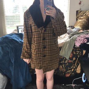 Plaid Jacket with Buttons